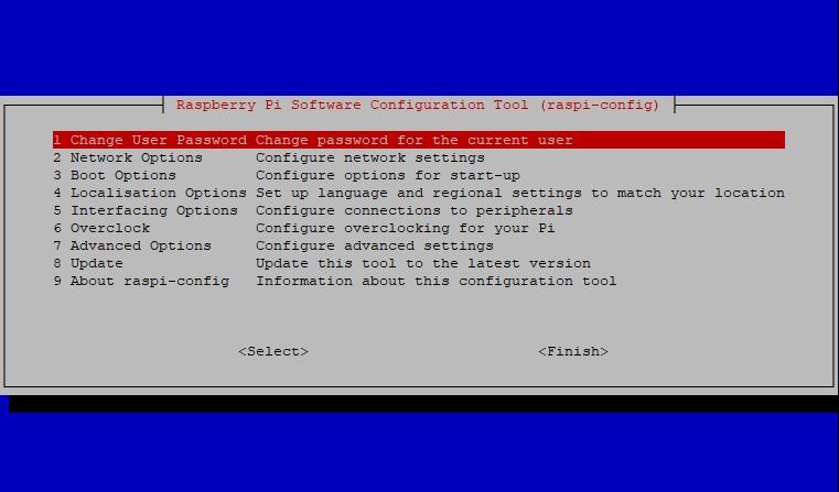 Configuration du Raspberry pi