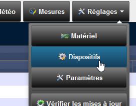 Domoticz 4.9700 - Réglages - Dispositifs